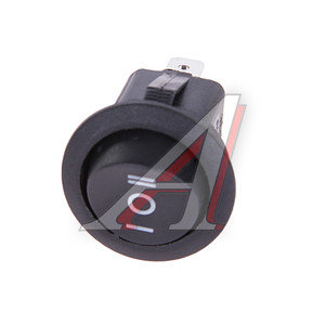 Переключатель 3-х позиционный круглый черный/серый FLASH-OFF-LIGHT ПК-3