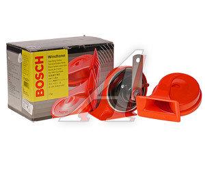 Сигнал звуковой WINDTONE 12V электропневматический красный комплект BOSCH 0986AH0507,