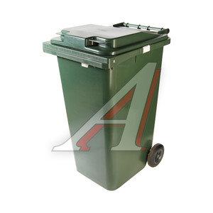 Контейнер мусорный 240л на колесах темно-зеленый 24.C29 IPLAST IP-386308