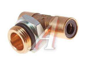 Соединитель трубки ПВХ,полиамид d=8мм-8мм (наружная резьба) М22х1.5 тройник латунь CAMOZZI 9412 8-M22X1,5,