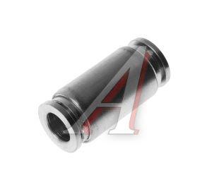 Соединитель трубки ПВХ,полиамид d=10мм прямой металлический MPUC10, АТ-0386,