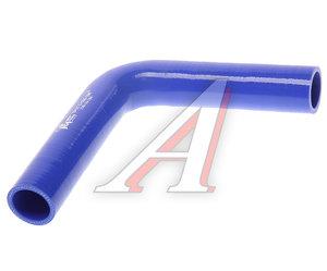 Патрубок угловой синий силикон (d=35, L=200х200) Патрубок D=35*