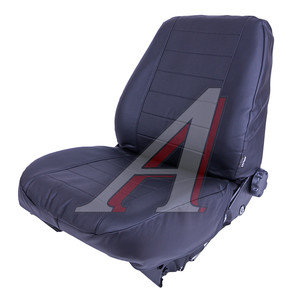 Авточехлы ВАЗ-2190,2191 седан (11-) экокожа сплошное сиденье черные СПУТНИК S0036,