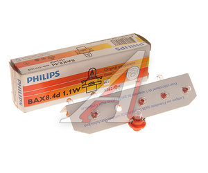 Лампа 1.1W BX8.4d 12V PHILIPS 12624CP, P-12624
