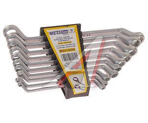 Набор ключей накидных 6-27мм 10 предметов в холдере изгиб 75град. MEGASEAL MS512600
