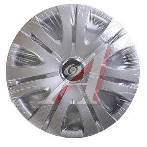 Колпак колеса R-15 декоративный серый комплект 4шт. универсальный 317 R-15,