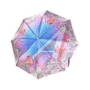 Зонт женский 3 сложения купол-фотосатин R-58 ТРИ СЛОНА 274304, 133,