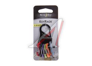 Брелок для ключей с пластиковыми карабинами черный NITEIZE KRK-03-01,