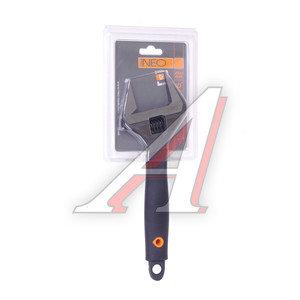 Ключ разводной 250х50мм с прорезиненной ручкой NEO ПРОФИ 03-016