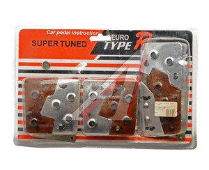 Накладка педали FR-6207(1006) WOOD/CHROME комплект 3шт. TYPE R FR-6207(1006)WD/C