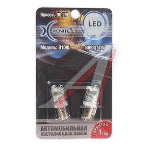 Лампа светодиодная T4W BA9s 12V блистер (2шт.) XENITE Xenite B109L, 1009354,