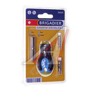 Отвертка с набором бит 4 предмета BRIGADIER 39024