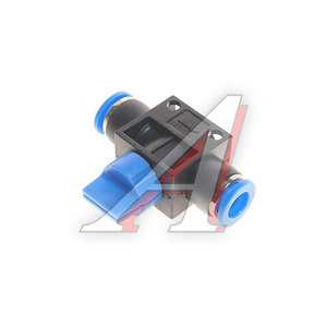 Фитинг для пластиковых трубок 8x8мм с краном ROCK FORCE RF-SHVFF08-08