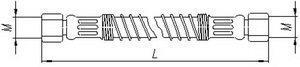 Шланг МАЗ механизма подъема платформы К=32 L=850мм 2SN16-25 5551-8609029-10