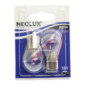 Лампа 12V P21W BA15s блистер (2шт.) NEOLUX N382-2бл, NL-382-2бл, А12-21-3