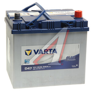 Аккумулятор VARTA Blue Dynamic 60А/ч обратная полярность 6СТ60 D47, 560 410 054 313 2