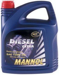Масло дизельное DIESEL EXTRA п/синт.5л MANNOL MANNOL SAE10W40, 1106