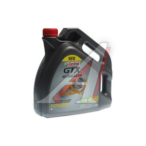 Масло моторное GTX A3/B3 п/синт. 4л CASTROL CASTROL SAE10W40, 1586FD,
