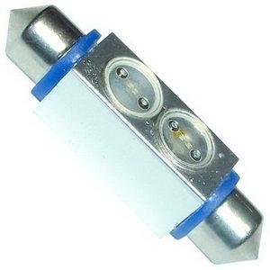 Лампа 12VхC20W (SV8.5/8) 42мм 2 SMD свет-да SUP.BR.BLUE MEGAPOWER 50433B, M-50433B-OLD