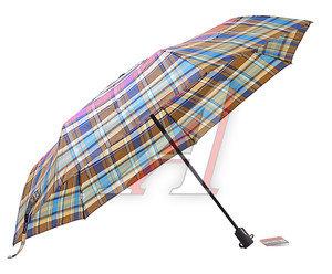 Зонт женский 3 сложения купол-полиэстр R-58см ТРИ СЛОНА 274249, 367