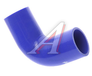Патрубок МАЗ радиатора угловой синий силикон (L=220мм, d=70х60) 555142-1303251