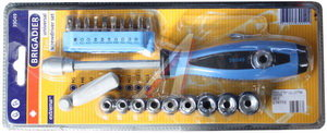 Набор отверток универсальный 21 предмет BRIGADIER 39049