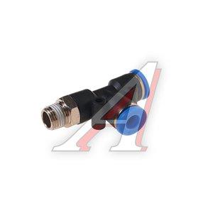 """Фитинг для пластиковых трубок 1/4"""" Т-образный 6мм с наружной резьбой ROCK FORCE RF-SPD06-02"""