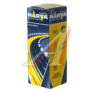 Лампа 12V H1 55W +50% P14.5s Range Power NARVA 48334, N-48334RP, А12-55(Н1)