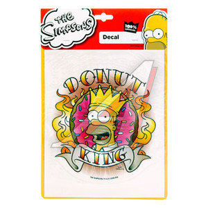 "Наклейка ""Donut King Гомер"" 18х23см THE SIMPSONS SP-10327,"
