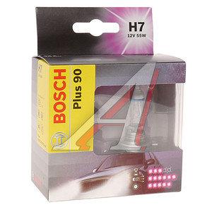 Лампа H7 12V 55W +90% бокс (2шт.) BOSCH 1987301075