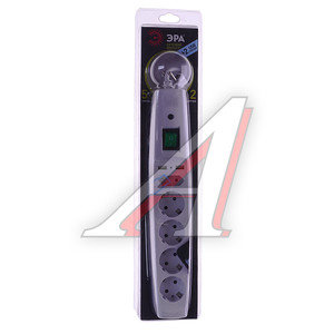 Фильтр сетевой 2м 16А 3500Вт, 5 гнезд + 2 USB, с заземлением, выключатель, евро, белый ЭРА SFU-5es-2m-W, ER-SFU5ES2W, ЭРА