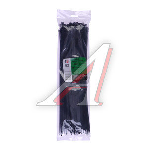 Хомут-стяжка 350х5.0 пластик черный (100шт.) FORTISFLEX 1005350-1, 49418,