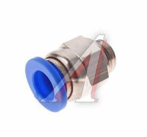 Соединитель трубки ПВХ,полиамид d=8мм (наружная резьба) М10х1 прямой PC M10x1 d=8, АТ-0701