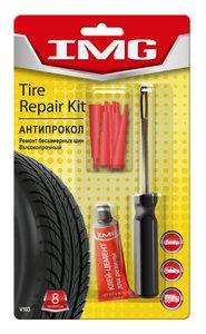 Набор для ремонта бескамерных шин (шило, клей, 6 вставок резиновых красных) VICTOR VICTOR V103, V103,
