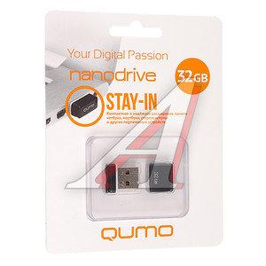 Карта памяти USB 32GB Nano Black QUMO QUMO 32GB NANO BLACK, 18332