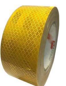 Лента светоотражающая желтая (20м) призматическая Лента светоотражающая (желтая) 5смх20м, 5смх20м желтая