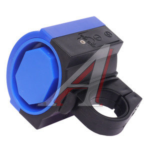Звонок велосипедный электрический пластик DZ-11F черно-синий *LU059738*, 210193