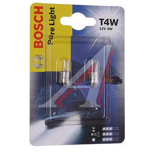 Лампа 12V T4W блистер BOSCH 1987301023