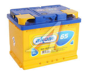Аккумулятор АКОМ 65А/ч обратная полярность 6СТ65,