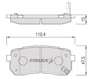 Колодки тормозные KIA Carnival (05-) HYUNDAI iX55 (08-) задние (4шт.) HANKOOK FRIXA FPH19R, 58302-3JA00