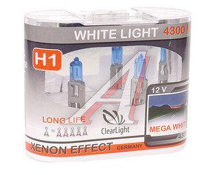 Лампа H1 12V 55W White Light бокс (2шт.) CLEARLIGHT MLH1WL,
