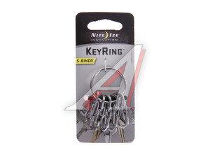 Брелок для ключей с металлическими карабинами стальной NITEIZE KRGS-11-R3,