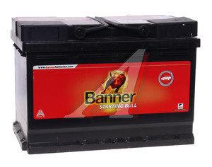 Аккумулятор BANNER Starting Bull 72А/ч обратная полярность 6СТ72 572 12,