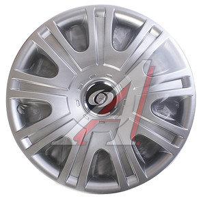 Колпак колеса R-15 декоративный серый комплект 4шт. универсальный 319 R-15