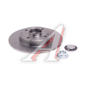 Диск тормозной PEUGEOT 307 (02-10) CITROEN C4 (04-) задний (1шт.) BREMBO 08.9512.27, DF2059BS, 4249.32