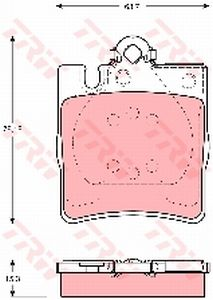 Колодки тормозные MERCEDES E (W210) задние (4шт.) TRW GDB1334, A0024205220