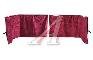 Шторка автомобильная на лобовое стекло красная универсальная тип А барашек 2200х800 АТ-7431