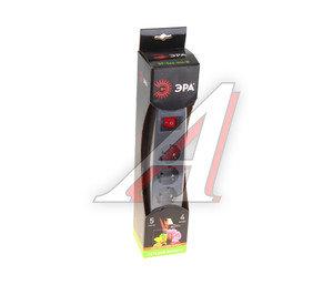 Фильтр сетевой 4м 16А 3500Вт, 5 гнезд, с заземлением, выключатель, евро, черный ЭРА SF-5es-4m-B, ЭРА