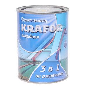 Грунт-эмаль по ржавчине желтый 1л KRAFOR KRAFOR, 26 683
