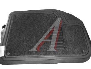 Коврик салона универсальный резина съемный ковролин серый Focus 2 AUTOPROFI TER-420 GY (72*50см 50*55см), TER-420 GY